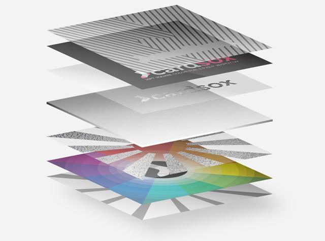Dive Deep: Square Color Foil Business Cards