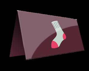 Silk folded business cards